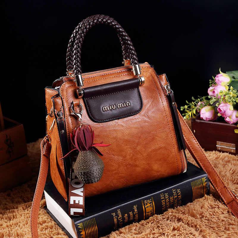 543cdcdb7a24 Ретро женские сумки на плечо, модные высококачественные женские Сумки из  искусственной кожи, дизайнерские сумки