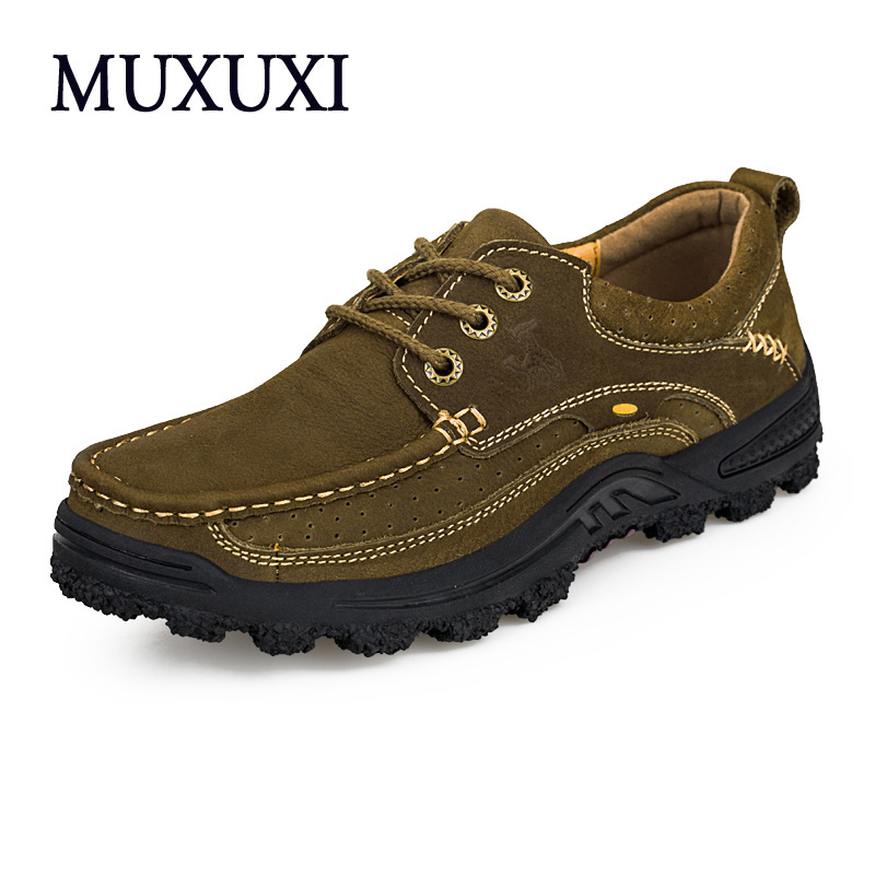 New Arrival Comfortable outdoor Casual Shoes Men Genuine Leather Fashion Men Shoes Handmade Oxfords plus size 38-45 new authentic quality fashion casual men s shoes handmade genuine leather oxfords shoes for spring summer plus size 38 47