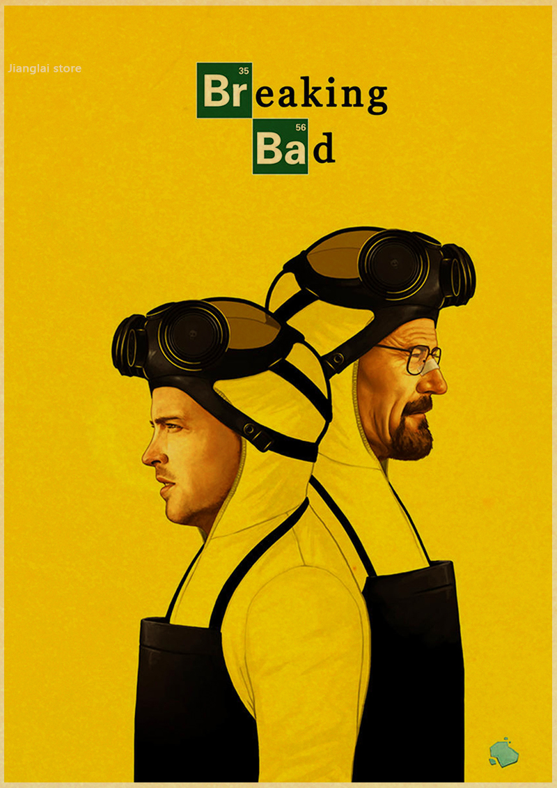 Image 2 - Wall stickers home decor Wall poster Breaking Bad vintage poster retro Walter White posters american TV series-in Wall Stickers from Home & Garden