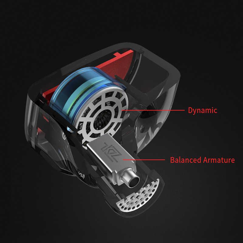KZ ES4 1BA с 1DD гибридные наушники-вкладыши HIFI DJ Monito спортивные наушники для бега наушники KZ ZST/AS10/BA10 KZ ZSN KZ AS06