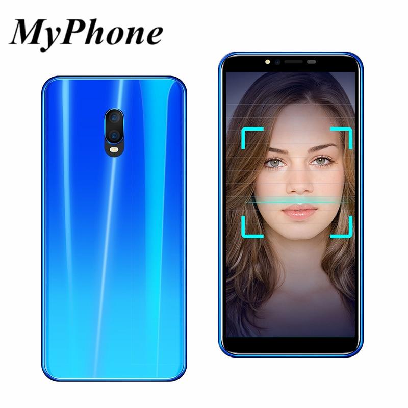 MyPhone R17 5.72 pouce Plein Écran Mobile Téléphone MTK6580 Android 6.0 Quad Core 1 gb RAM 4 gb ROM 3800 mah Dual SIM WCDMA Smartphone