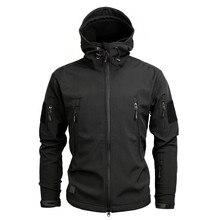 Для мужчин; военный Камуфляжный жакет и Пальто Военно-тактические зимняя куртка Водонепроницаемый Soft Shell Куртки Ветровка Охота Одежда
