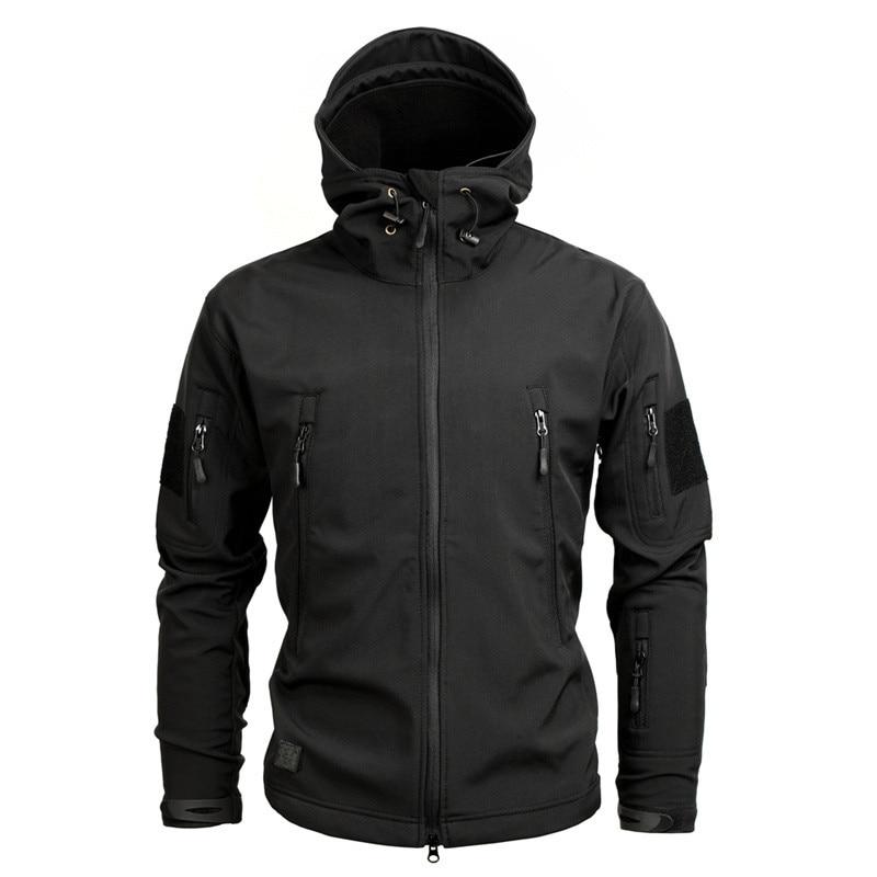 Männer Armee Camouflage Jacke und Mantel Militärische Taktische Jacke Winter Wasserdichte Soft Shell Jacken Windjacke Jagd Kleidung