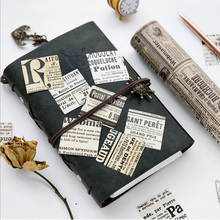 45pcs/box Retro Nostalgia newspaper Stickers Decorative Stationery Scrapbooking DIY Diary Album Stick Label Sticker