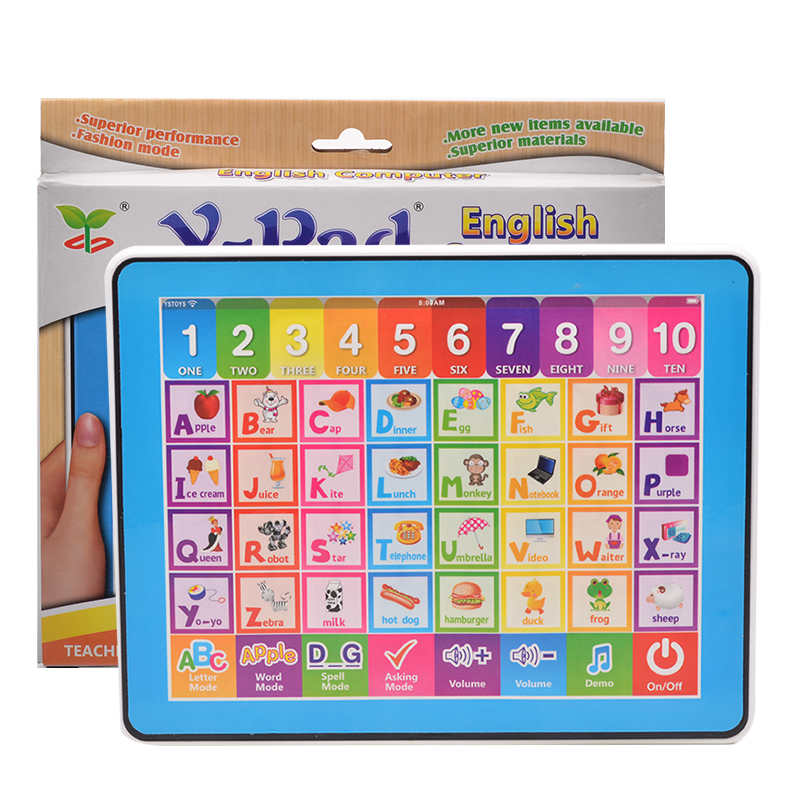 English Language Childrens Tablet Computer For Kinds Learning Book Educational Toys Lear ...