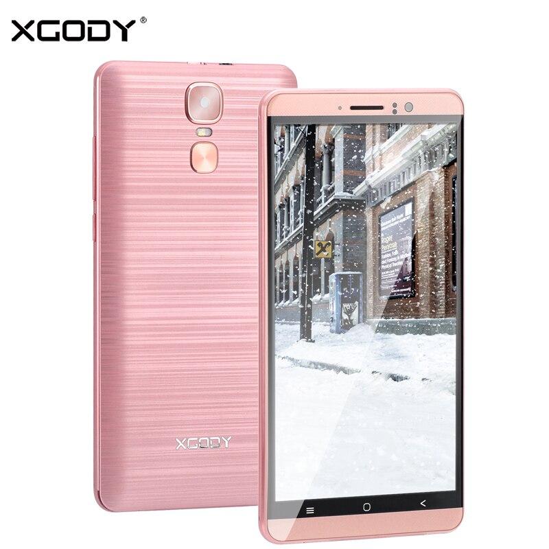 XGODY New 3G Dual Sim Smartphone 6 Inch Android 5.1 Mobile Phone MTK6580 Quad Core 1GB RAM 8GB ROM 5MP Camera GPS WiFi Cellphone