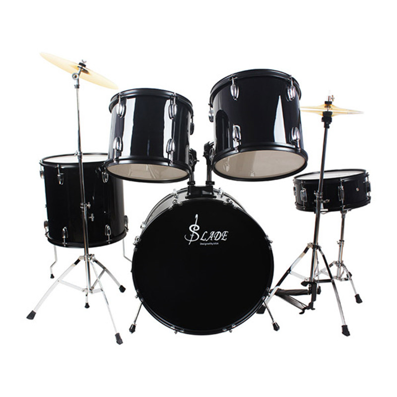 LADE Iron-plating Drum Set 5 PC Complete Adult Set with Stand Pedal Musical Percussion Instruments for Music Lovers children early education drum music educational instrument combination 5 joy woolly waist drum hand bell trumpet baby