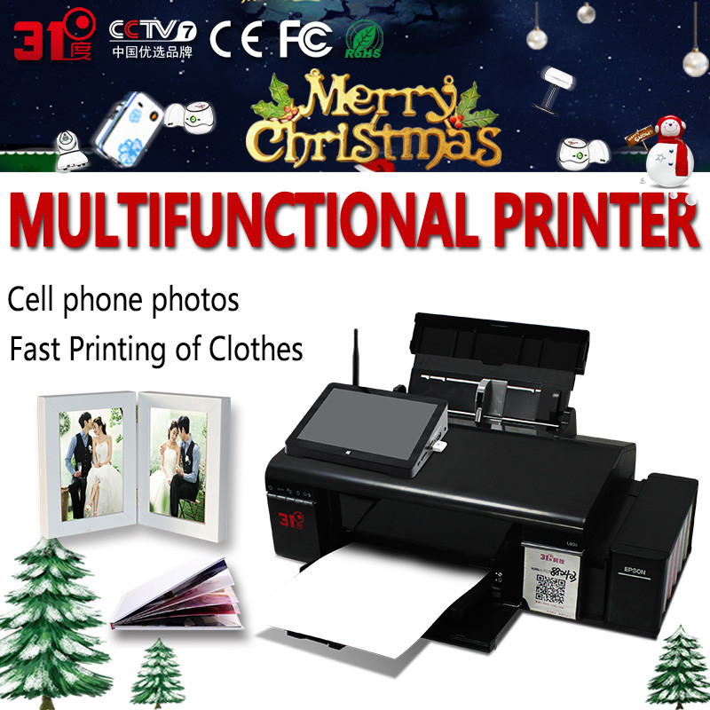Photo Color Ink Printer With Heat Press Transfer Sublimation Machine Printing Cup Machine For Mug/Cap/T Shirt/Phone Cases