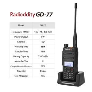 Image 5 - Radioddity GD 77 DMR Dual Time Slot Dual Band  Digital/Analog Two Way Radio 136 174 /400 470MHz Ham Walkie Talkie with Battery