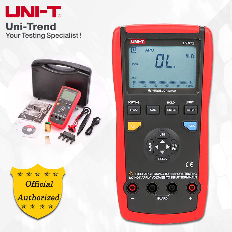 UNI-T UT612 100KHz LCR Meter; Frequency/Resistance/Inductance/Capacitor Test Table, Data Storage/Analog Bar Graph/Relative Mode bichot charles edmond graph partitioning