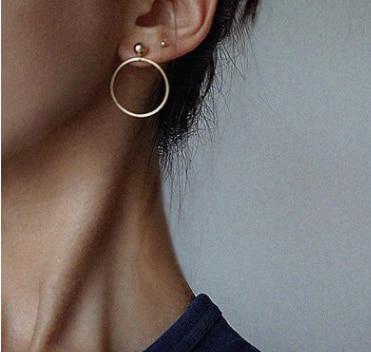 ¡ Nuevo! Joyería de moda de Color Oro Geométrica Redonda Con Cuentas Grandes Stud Pendientes Mejor Regalo Para Muchacha de Las Mujeres Al Por Mayor