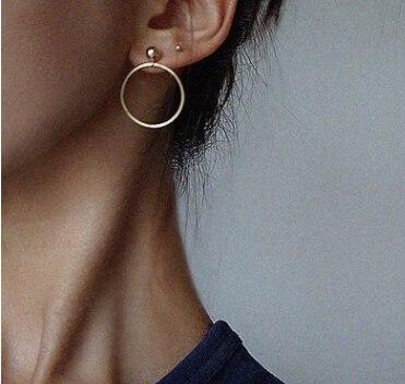 Nuovo! Monili di modo di Colore Dell'oro Geometrica Rotonda Con Grandi Perle Orecchini Migliore Regalo Per Le Donne Ragazza All'ingrosso