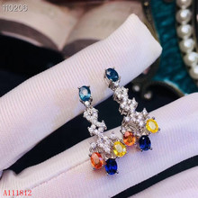 KJJEAXCMY fine jewelry 925 pure silver inlaid natural color sapphire lady Earrings support detection kjjeaxcmy fine jewelry natural opal lady ring 925 pure silver inlaid with fire and color super beautiful lady