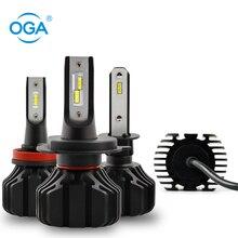 OGA 2Pcs H1 H3 H4 Led H7 H11 9005 9006 with CSP Chip Bulb Car Auto Headlight Fog Light 12V 8000LM Smaller Size