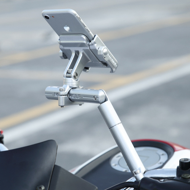 BuzzLee Motorcycle Multifunctional Expansion Rack Extension Rotatable Motorbike Light Expansion Bracket Phone Holder Stand