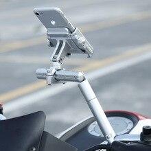 BuzzLee Motorrad Multifunktionale Expansion Rack Verlängerung Drehbare Motorrad Licht Expansion Halterung Telefon Halter Stehen