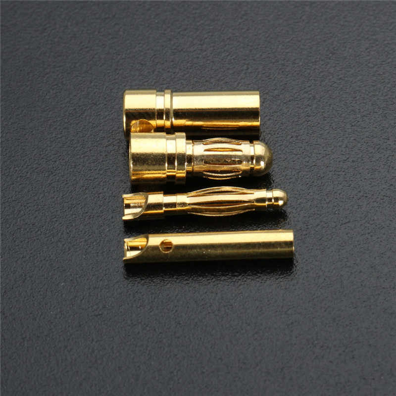 "40 шт./компл. 3,5 мм 2 мм золото пластины Bullet Plug Разъем типа ""банан"" для ESC двигателя RC Батарея Banana plug разъемы"