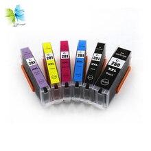 Winnerjet 5 Sets Compatible PGI-280 CLI-281 PGI280 Ink Cartridges for Canon PIXMA TR7520 TR8520 TS6120 TS8120 TS9120 Printers