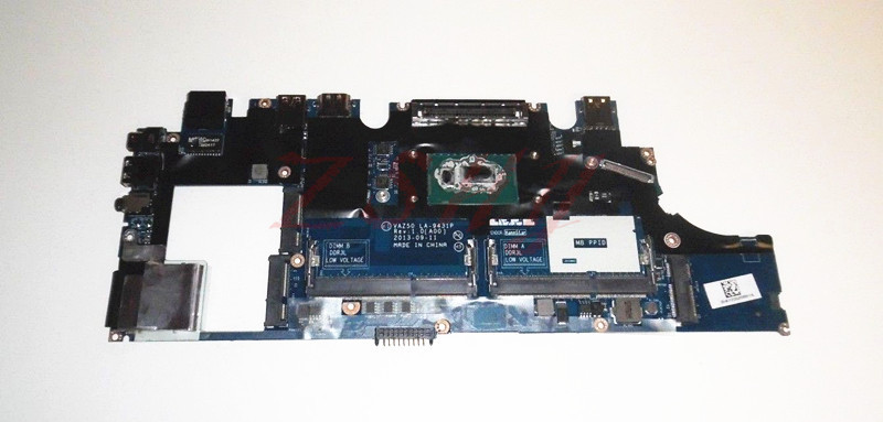 For Dell E7240 Laptop Motherboard VAZ50 LA-9431P CN-0X9Y17 0X9Y17 WI7 DDR3L