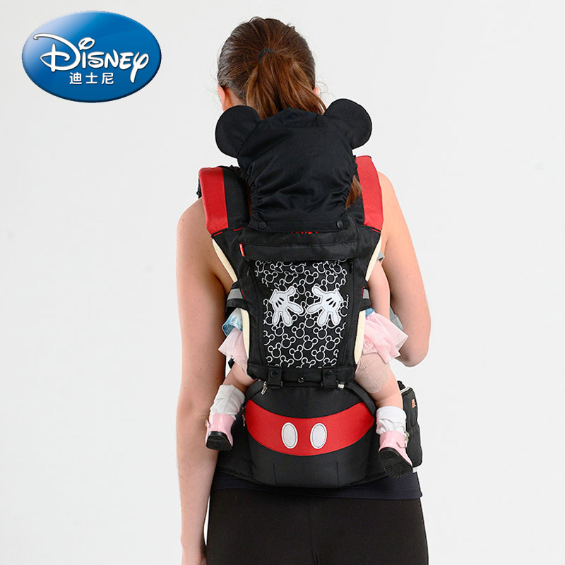 Disney Baby Carrier Breathable Multifunctional Front Facing Infant Baby Sling Backpack Pouch Wrap Disney Accessories disney baby carrier front facing infant breathable comfortable sling mickey minnie backpack toddler detachable carrier