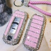 Luxury Diamond Key Shell Car Key Case Key Cover Holder Auto Accessories Ms. gift pink purple For Mazda CX 5 CX 7 Atenza Alexa