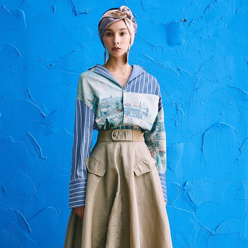 e7136ad86ef0 Camisas largas de primavera para mujer Camisas femeninas Vintage ...