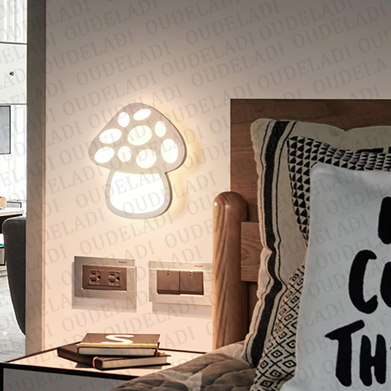 Image 4 - Modern Acrylic wall light Childrens room bedside bedroom LED wall lamps arts creative Corridor Aisle Sconce Decor AC85 265VLED Indoor Wall Lamps   -