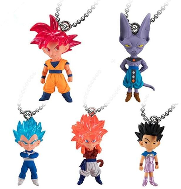 Dragon Ball Z UDM The Best 16 keychain set of 5 Figures 100/% original Japan!