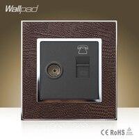 뜨거운 판매 Wallpad 고급 TV RJ11 소켓 염소 브라운