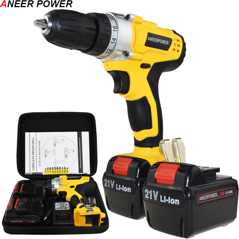 21v Electric Screwdriver Batteries Screwdriver Mini 1.5Ah Battery Capacity Drill Power Tools Electric Drill Cordless Drill 1 5ah battery capacity drill 12v mini cordless drill power tools electric screwdriver electric drill batteries screwdriver