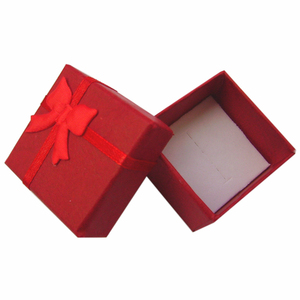"""Image 3 - ריבוע נייר קופסות מתנת תכשיטי 4x4x3 ס""""מ טבעת שחורה/תיבת עגיל תיבת הווה קטן עבור תצוגת אריזת תכשיטי עם הוספה לבנה"""