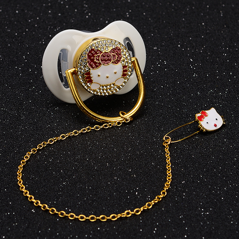 MIYOCAR Wholesale Price 100 Pcs Bling Rhinestone Baby Pacifier Dummy BPA Free FDA Pass Safe Bling Pacifier Dummy Special Price