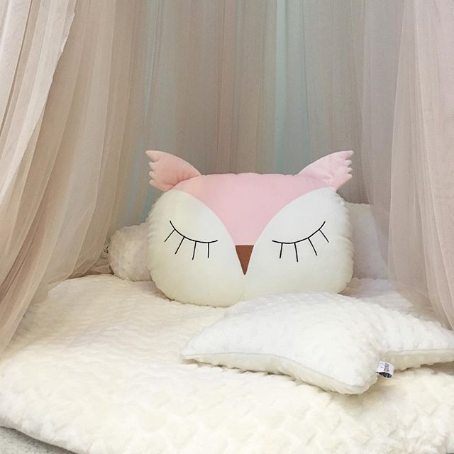 Baby Pillow Soft Lovely Cartoon Owls Baby Pillow Cushion Cotton Sleep appease Pillow Dolls Toys Baby Room Decoration Beddding