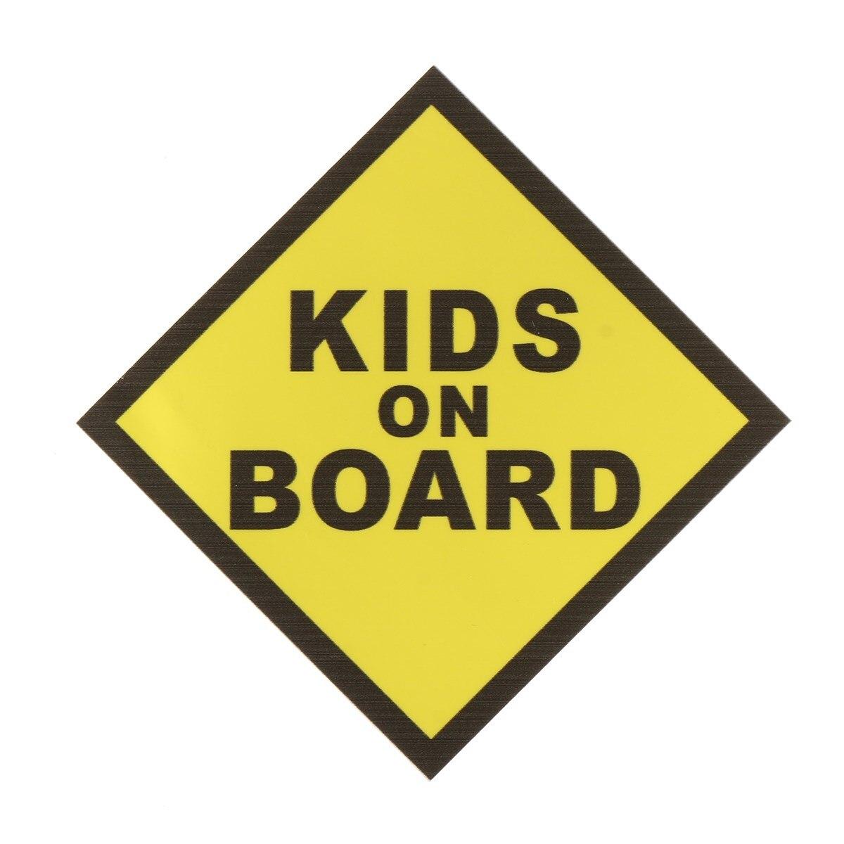 130x130 мм дети на борту Предупреждение Детская безопасность знак Стикеры Виниловая наклейка для окна автомобиля Сигнальные ленты