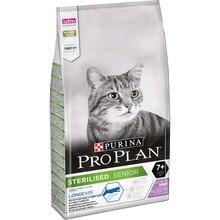 Сухой корм Purina Pro Plan для стерилизованных кошек и кастрированных котов старше 7 лет, с индейкой, Пакет, 10 кг