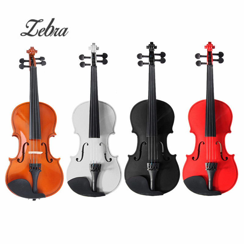 Zebra 1/2 Natural Acoustic Wooden Fiddle Violin Set with Violin Case Bow Rosin Parts for Stringed Instruments Beginner Lovers epiphone pro 1 plus acoustic natural