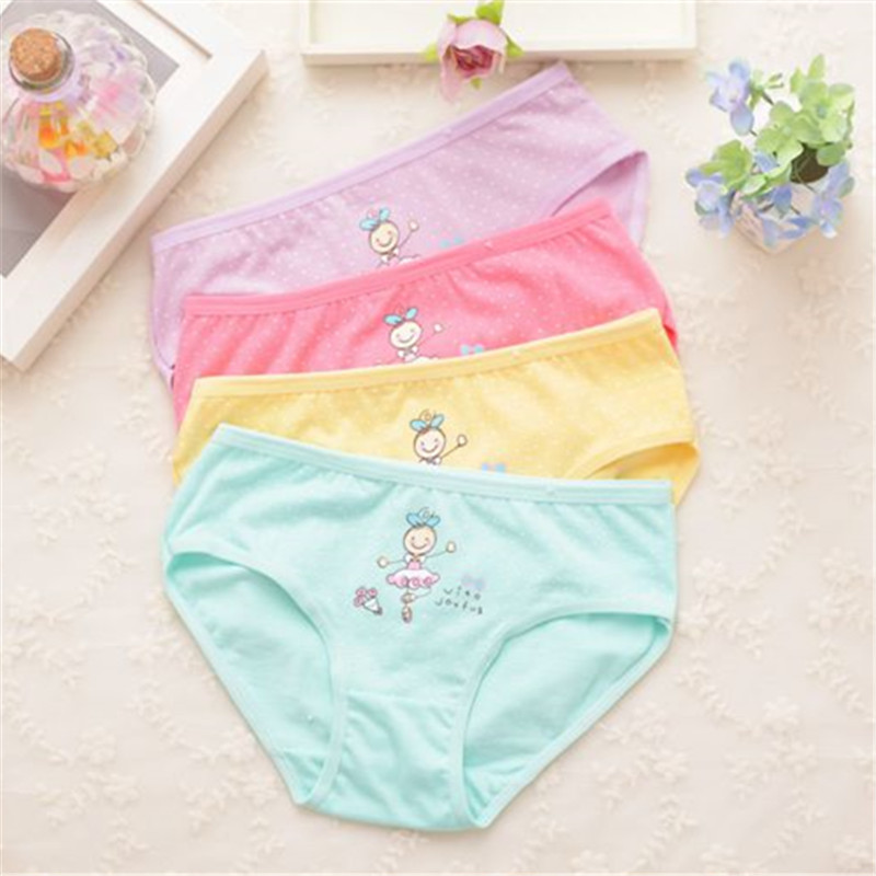 Underwear For Girls Underpants Panties  Briefs Short  Panties For Girls Calcinha Infantile Child's Kids Children H1082-4P 4p/lot