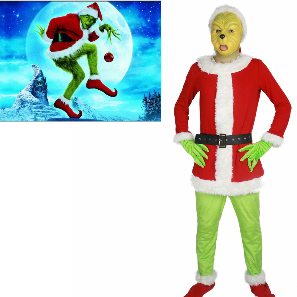 Coslive Hoe de Grinch Stole Christmas Movie De Grinch Cosplay Masker ...