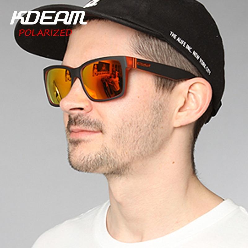 b2d588a899 KDEAM Polarized Sunglasses 2017 New Men Square Sun Glasses Women Party  Mirror lens Sport Elmore 6 ...
