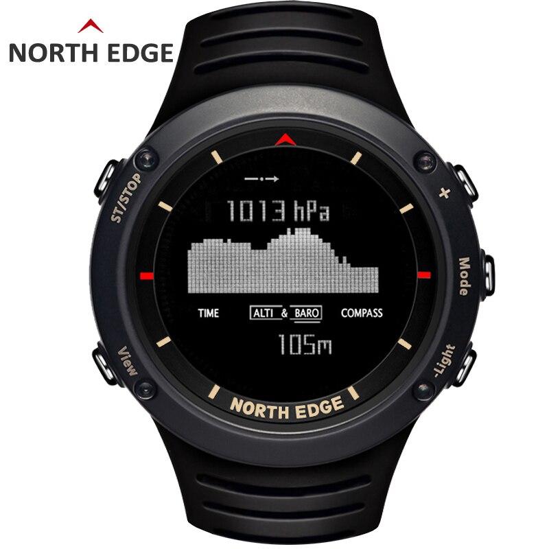 Homme sport numérique montre Étanche Coloré sport montres Heures de Course De Natation Altimètre Baromètre Boussole Météo Nord Bord