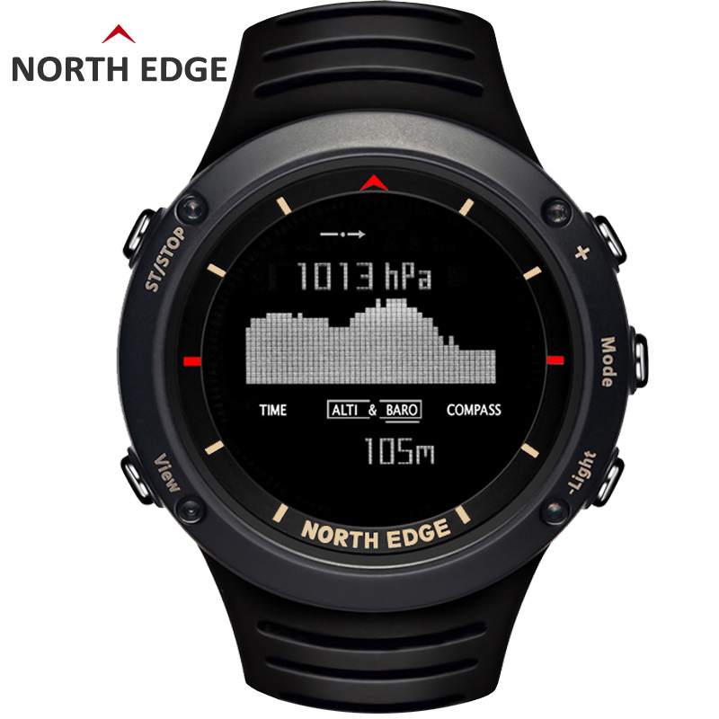 Man sport digital watch Waterproof Colorful sports watches Hours Running Swimming Altimeter Barometer Compass Weather North Edge digital man sport watch waterproof colorful sports watches hours running swimming altimeter barometer compass weather north edge