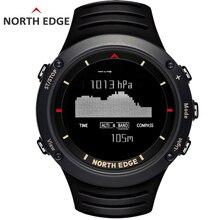 Человек Спорт цифровые часы Водонепроницаемый красочные спортивные часы часов Бег Плавание альтиметр барометр компас погода Северной край