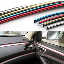 5m Universal Trim Strip Car Interior Decorative Thread Stickers Decals Chrome Styling Trim Strip Car Decoration(China)