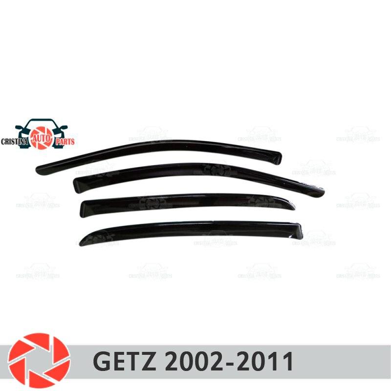 Дефлектор окон для hyundai Getz 5D 2002-2011, дефлектор дождя, защита от грязи, аксессуары для украшения автомобиля, Молдинг