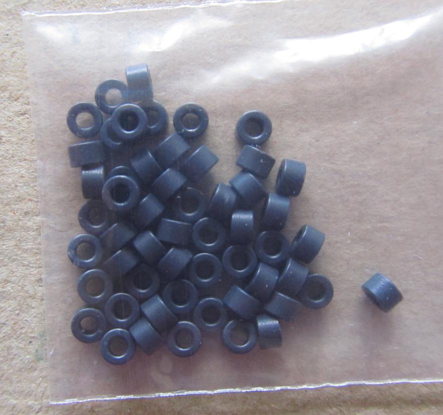 50 шт. ферритовый сердечник EMI фильтр 3,2X2X2 мм ферритовые сердечники кольцо анти-паразитный тороид тороидальный шарик катушки Ферритовое подавление железа