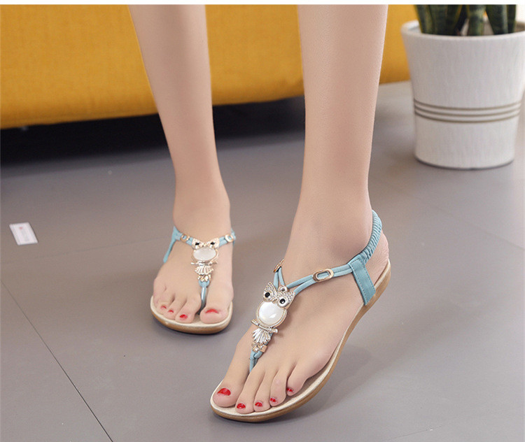 5bc10ce340 US $8.37 30% OFF|2018 New summer shoes women fashion flat women Sandals  Leisure Bohemia Ladies beach Flip Flops Soft casual female Sandals shoes-in  ...