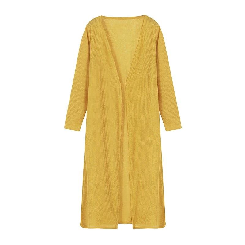 2018 New Women Summer Casual Blouse Shirt Tops Loose Kimono Long Sleeve Soild Color Long Cardigan Tops Blusas Plus Size S-5XL