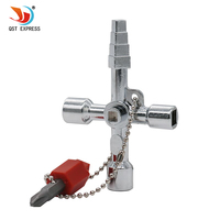 QSTEXPRESS pagoda 5 In 1 Universal Cross Square Triangle Train Electrical Cabinet Elevator Key