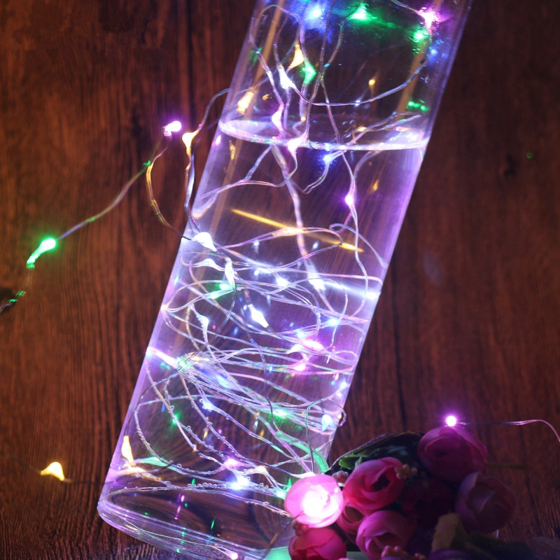 Holiday Lighting Battery Christmas String Light 2m 5m 10m Operated Long Ultra String Copper Wire Seasonal Decorative Holiday Wedding Battery Box