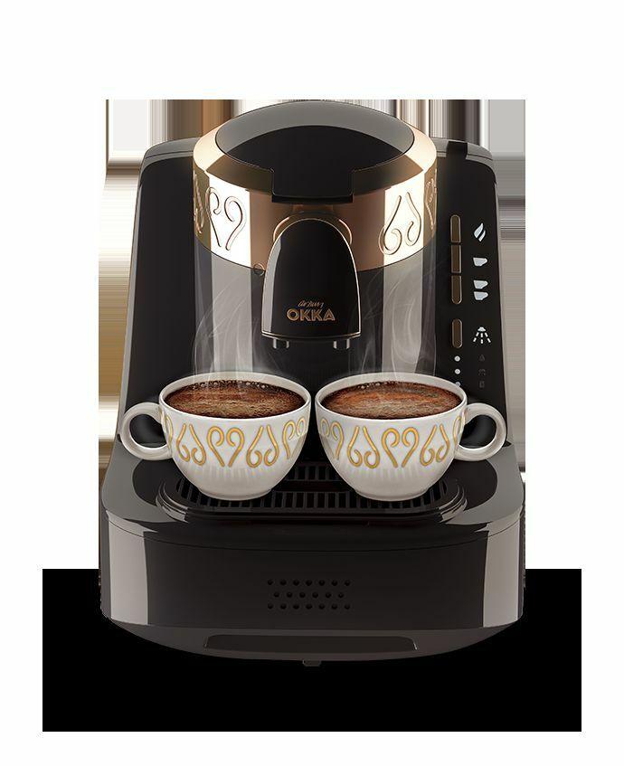 ARZUM OKKA FULL AUTOMATIC TURKISH COFFEE MAKER Machine +coffee /CHROME/ BLACK